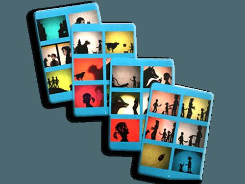 merXdir Präventionsspiel für den Kindergarten Spielvariante Bilderlotto die vier Bildtafeln